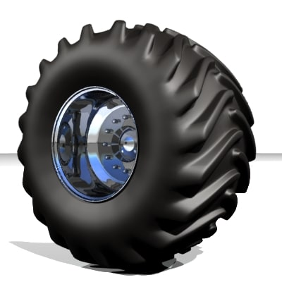 3d monster truck wheel tire