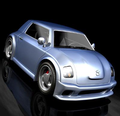 3d custom car model