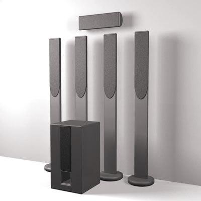 3d model 5 1 surround speakers