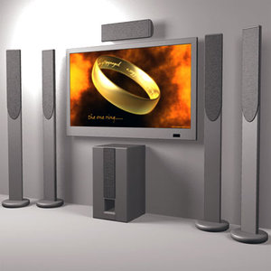 3ds max home theatre plasma tv