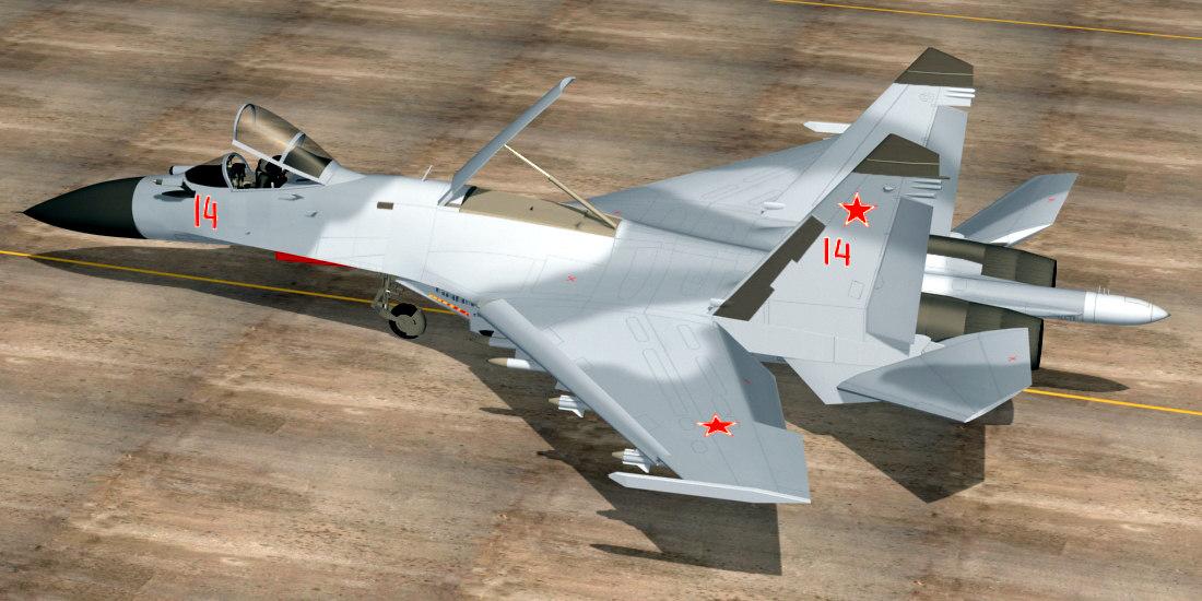 sukhoi russian vympel 3d model