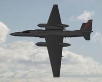u2 spyplane plane 3d model