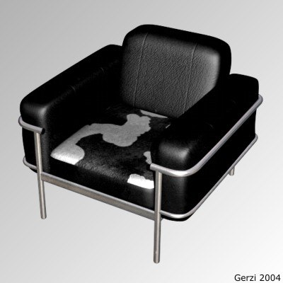 3ds max modern sofa leather
