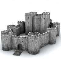 3d model medievil castle