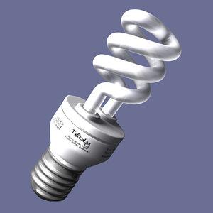 fluorescent bulb 3d 3ds