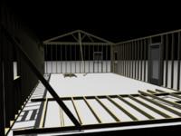 house framing 3d model