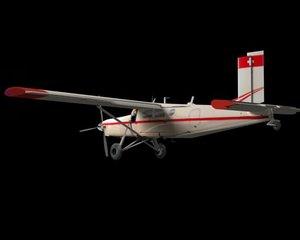 pilatus porter pc-6 3d model