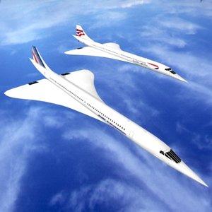 concorde aircraft 3d model