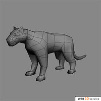 polygonal tiger 3d model
