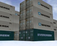 3d model industrial containers -