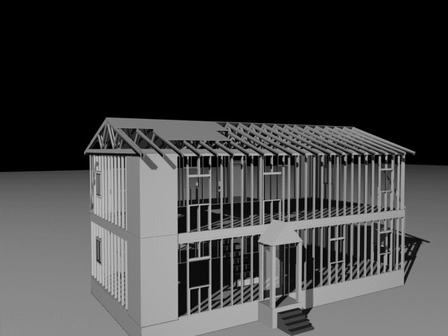 3d model framing construction house