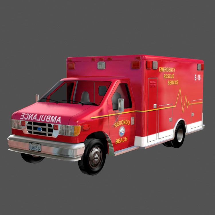 ambulance emergency van 3d model