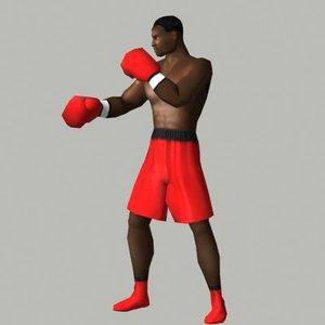 boxer character 3d model