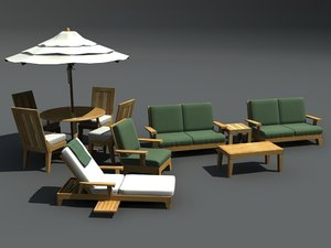 3ds max patio furniture set