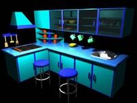 3d model kitchen house