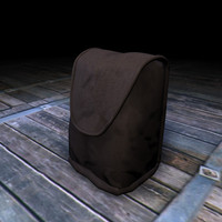 canvas backpack 3d model