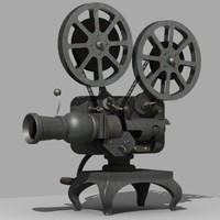 vintage film projector 3d model
