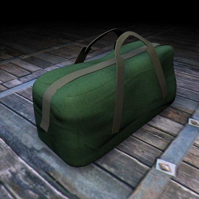 3d bag canvas model