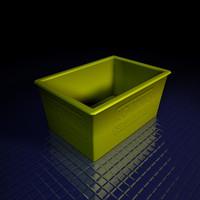 plastic rubber bin c4d
