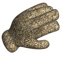 free cartoon gloves 3d model