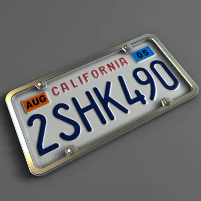 license plate c4d