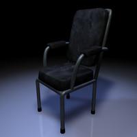 cinema4d modern chair leather