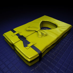 3d model life vest