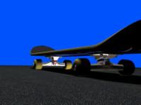 3d skateboard board model
