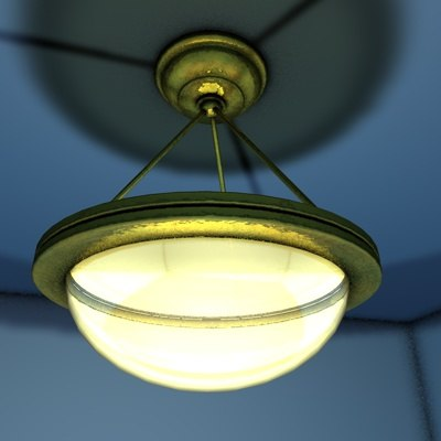bronze lamp 3d model