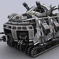 3ds sci-fi tank