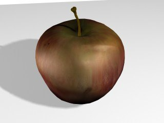 free rotten apple 3d model