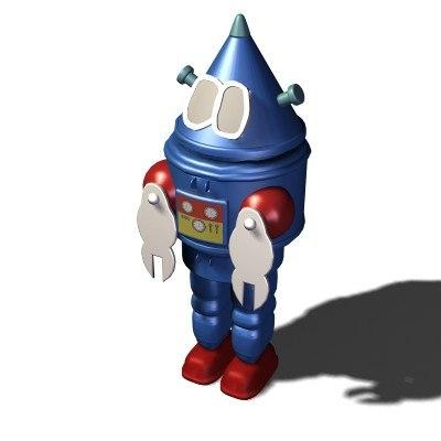 robot space 3d 3ds