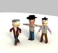 3d max rednecks character studio