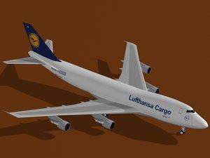 3d model b 747-200 f lufthansa