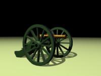 napoleonic cannon 3d model