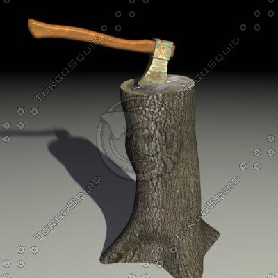 axe wood 3d model