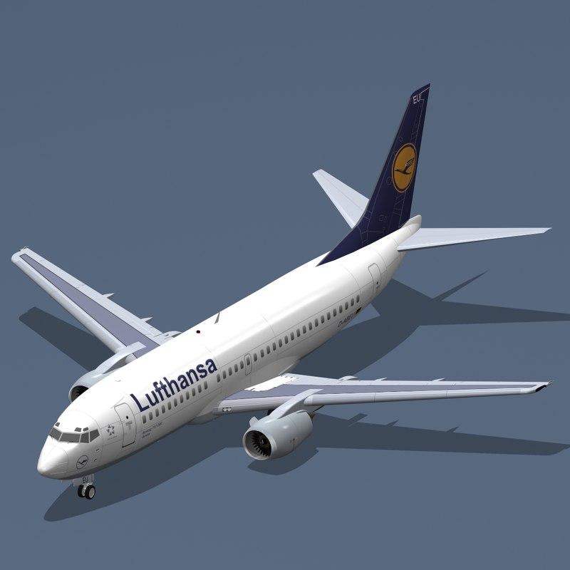 b 737-300 lufthansa 3ds