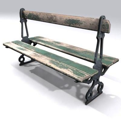 street bench 3d max