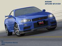 Nissan Skyline GT-R R34 V-Spec II 3DS