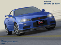 Nissan Skyline GT-R R34 V-Spec II OBJ