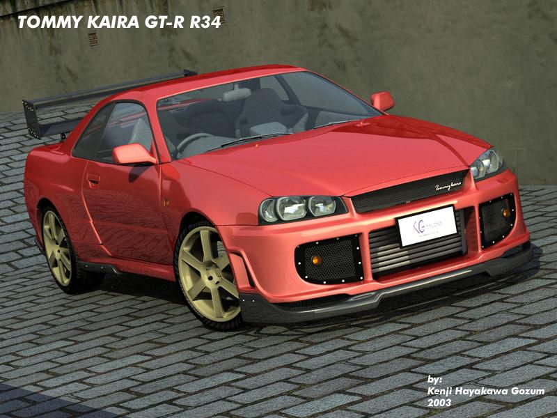 3d tommy kaira gt-r r34 model
