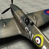 ww2 spitfire 3d model