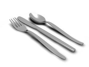 3d model fork knife