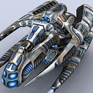 3d sci-fi alien mothership