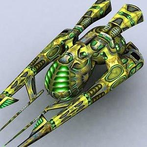 3dsmax sci-fi alien