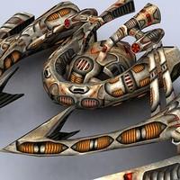 3ds max sci-fi alien