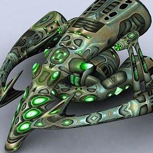 3d sci-fi alien mothership model