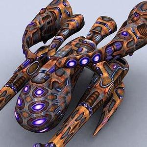 3d model sci-fi alien