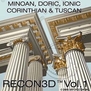 3d model of greek roman art multi-format