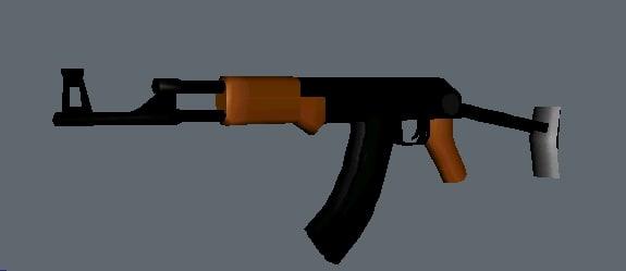 gmax ak47 3d model